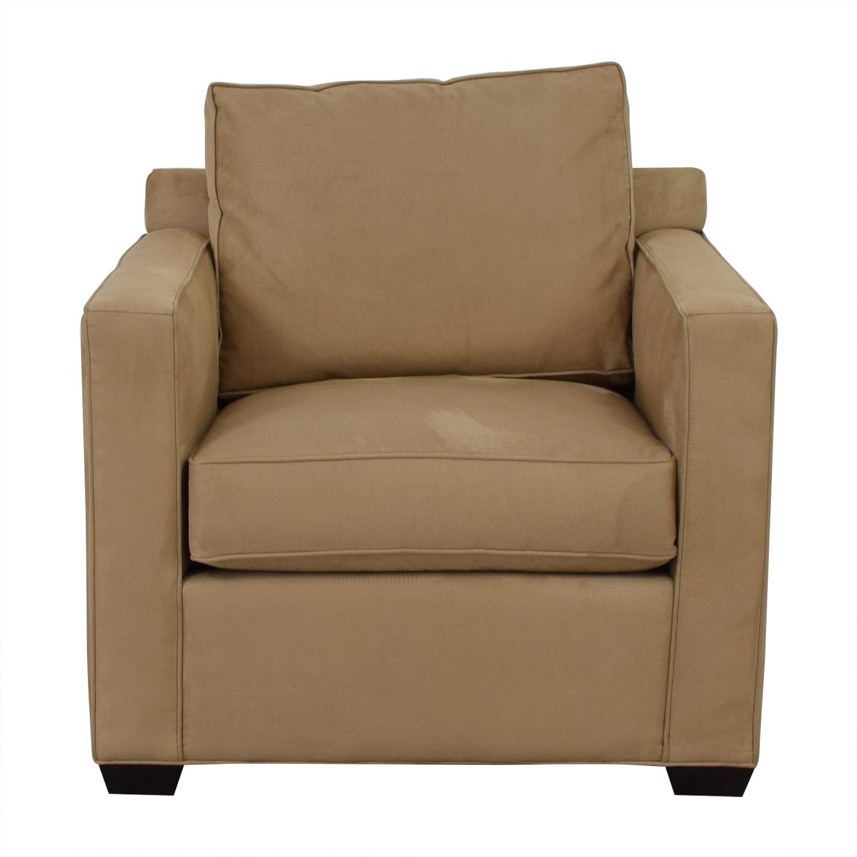 Crate & Barrel Crate & Barrel Davis Beige Accent Chair coupon