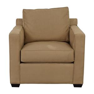 Crate & Barrel Crate & Barrel Davis Beige Accent Chair used