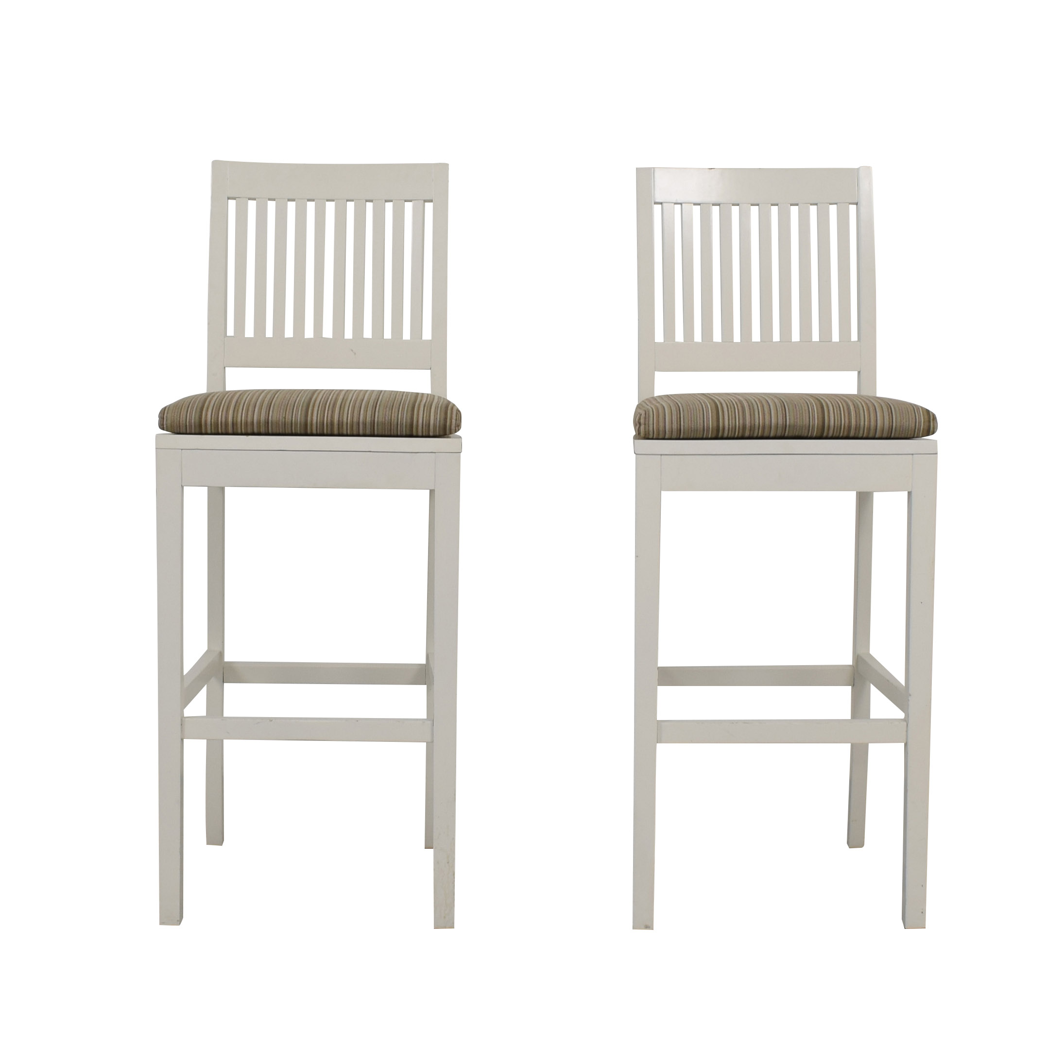 buy Crate & Barrel Aspen White Bar Stools Crate & Barrel Chairs