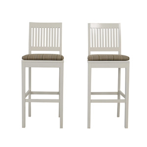Crate & Barrel Aspen White Bar Stools / Chairs