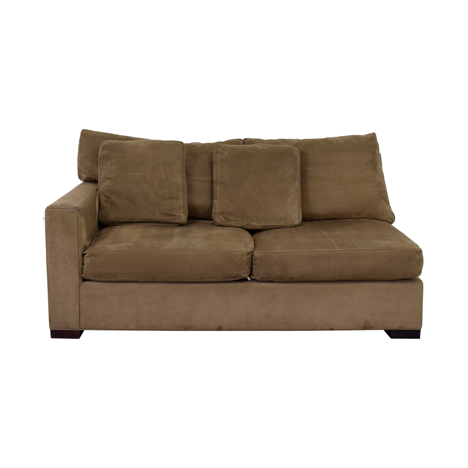 Crate & Barrel Crate & Barrel Grey Two-Cushion One Armed Sofa Gray