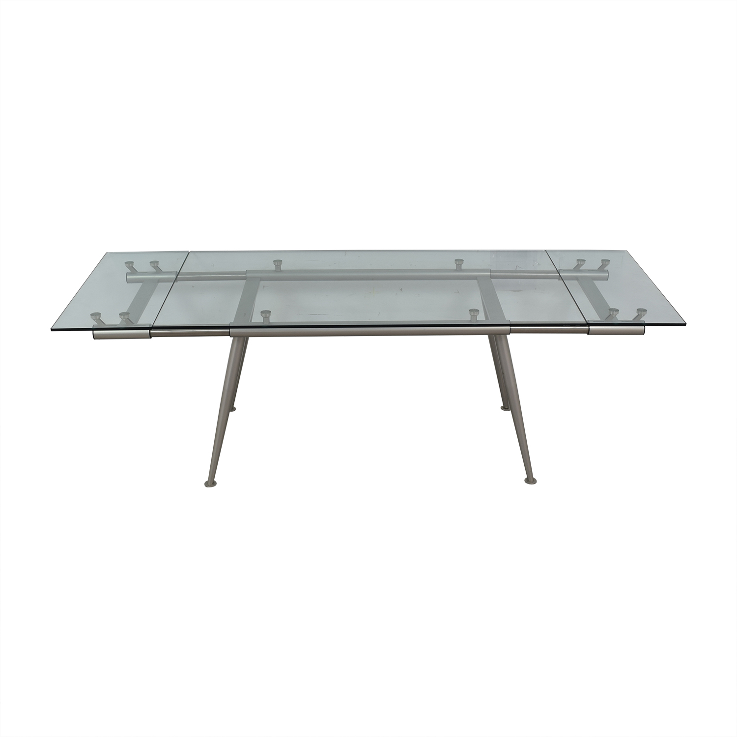 buy Calligaris Calligaris Modern Glass Extendable Dining Table online