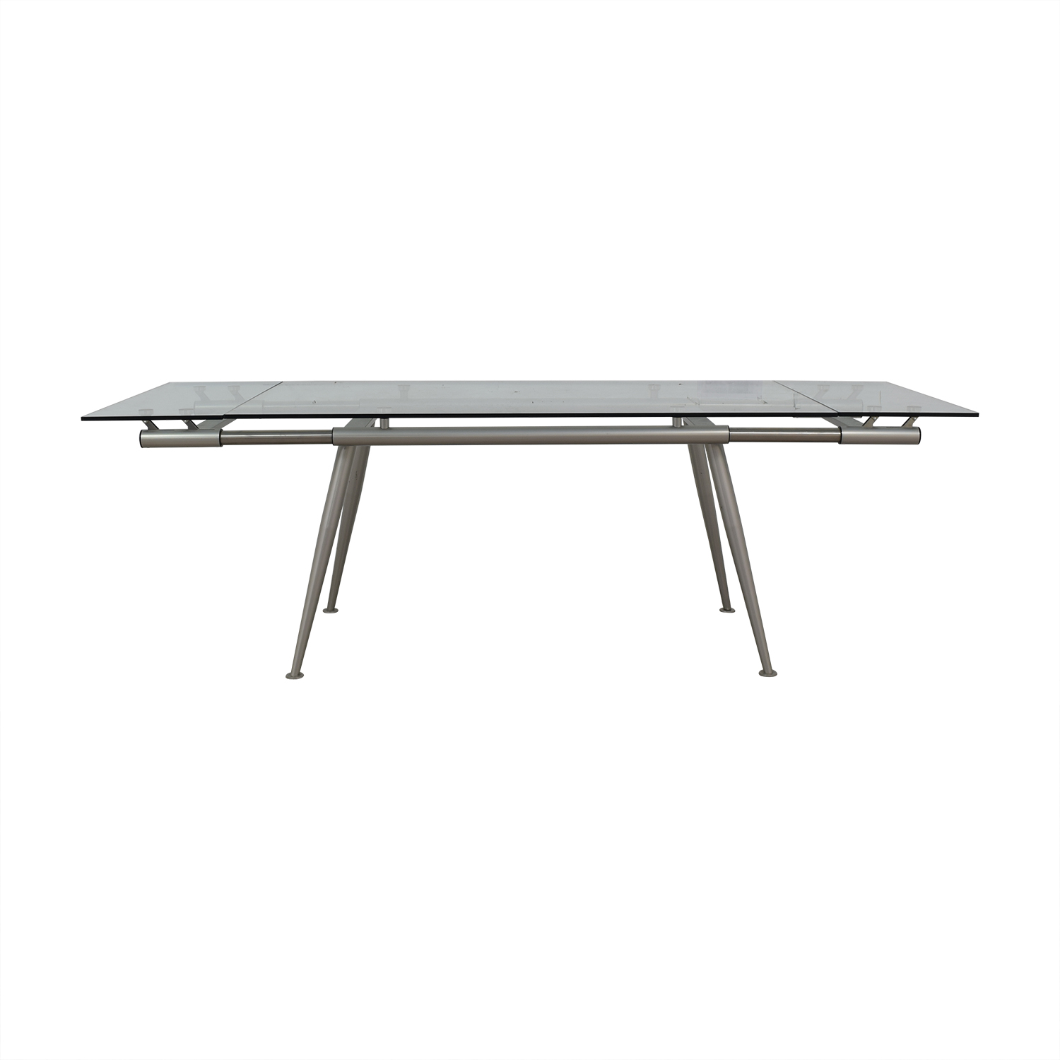 Calligaris Calligaris Modern Glass Extendable Dining Table dimensions