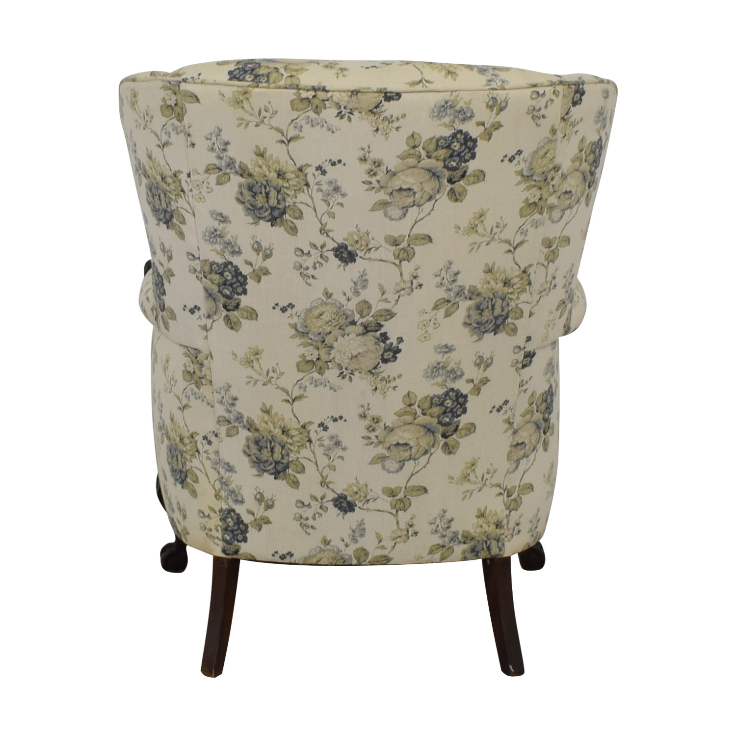 shop Floral Wingback Accent Chair