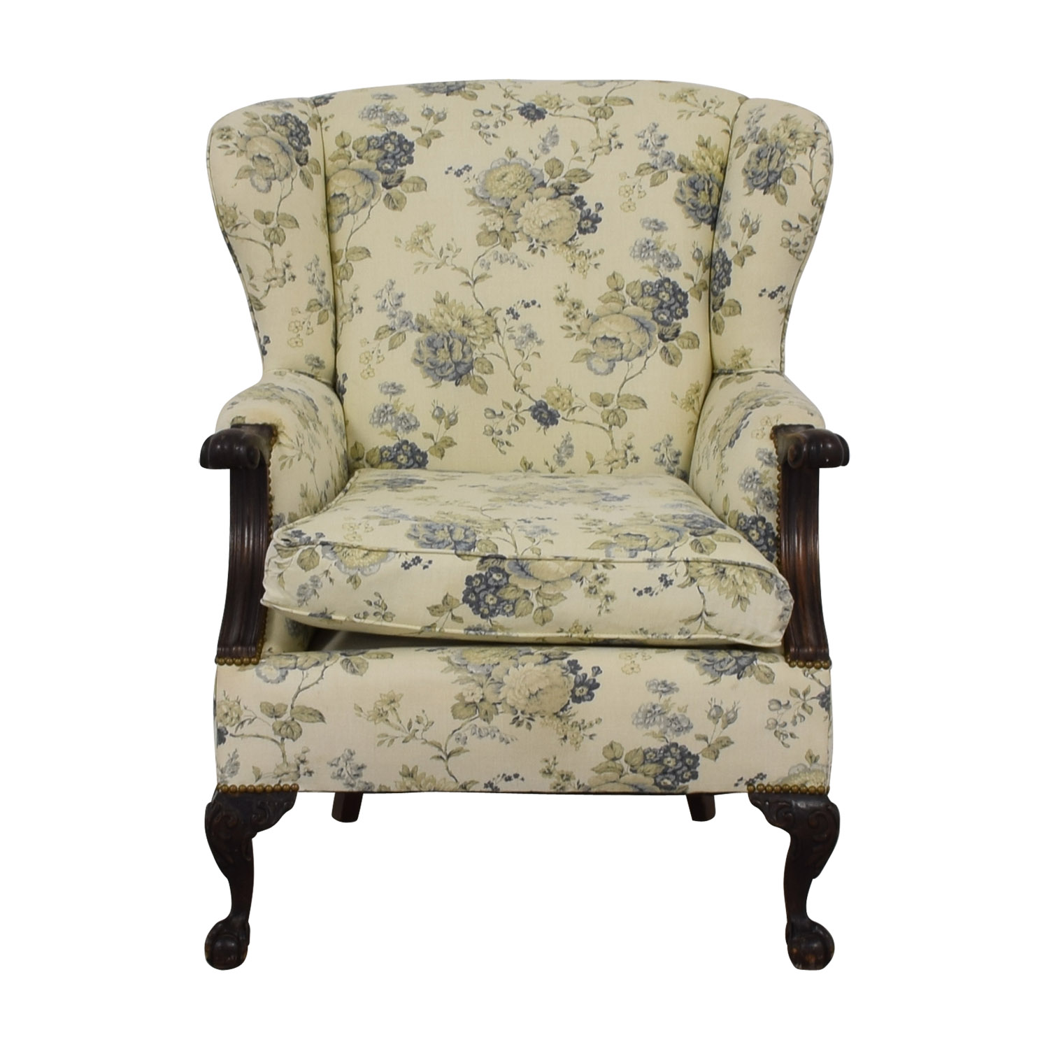 Floral Wingback Accent Chair / Chairs