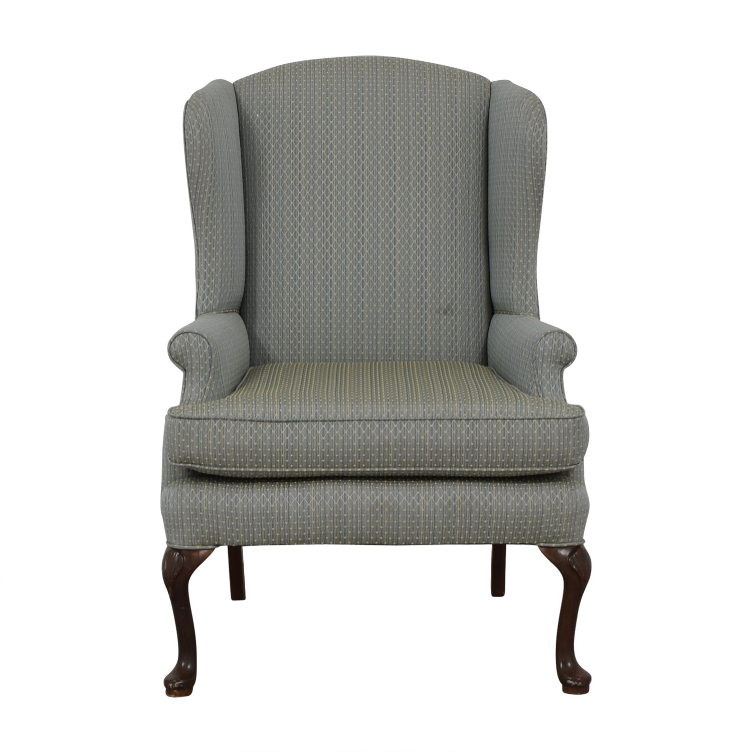 Incredible 90 Off Blue Wingback Accent Chair Chairs Bralicious Painted Fabric Chair Ideas Braliciousco