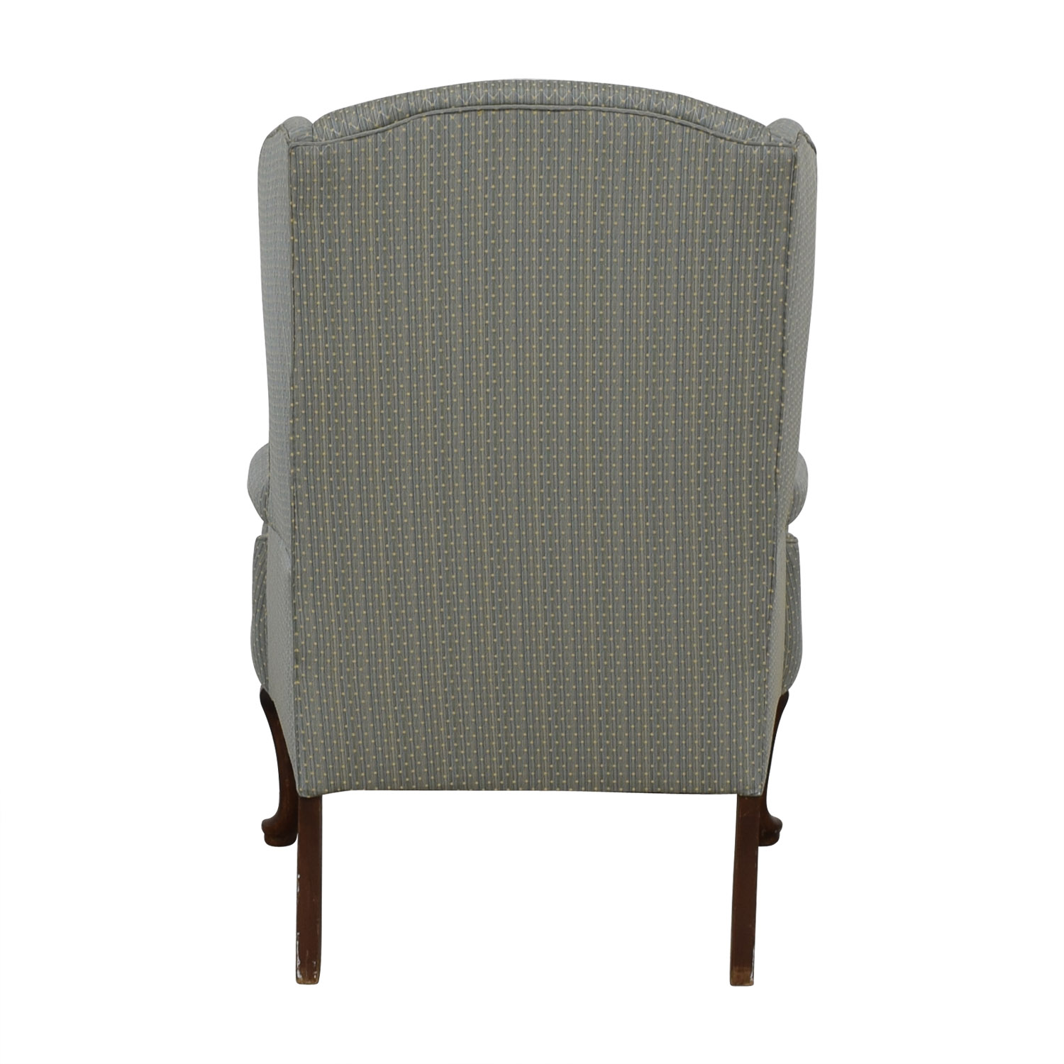 Blue Wingback Accent Chair on sale