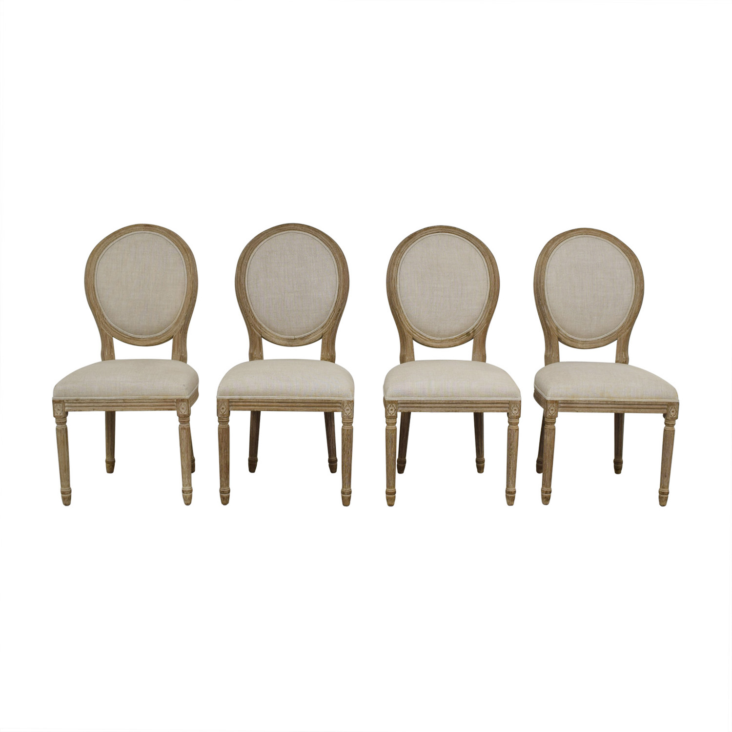 Restoration Hardware Restoration Hardware Vintage French Round Dining Chairs dimensions