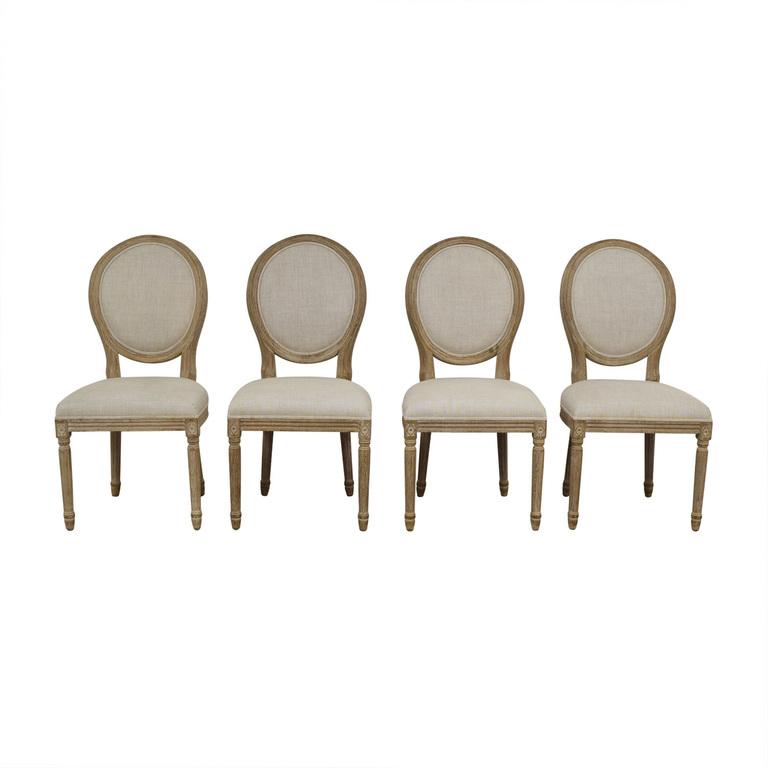 shop Restoration Hardware Vintage French Round Dining Chairs Restoration Hardware