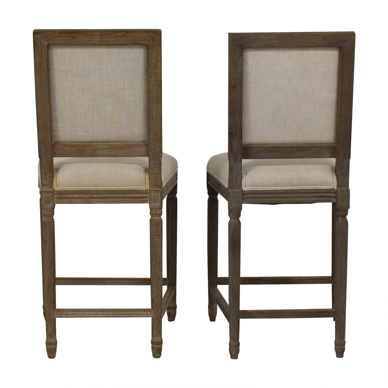 Restoration Hardware Restoration Hardware Vintage French Square Counter Stools second hand