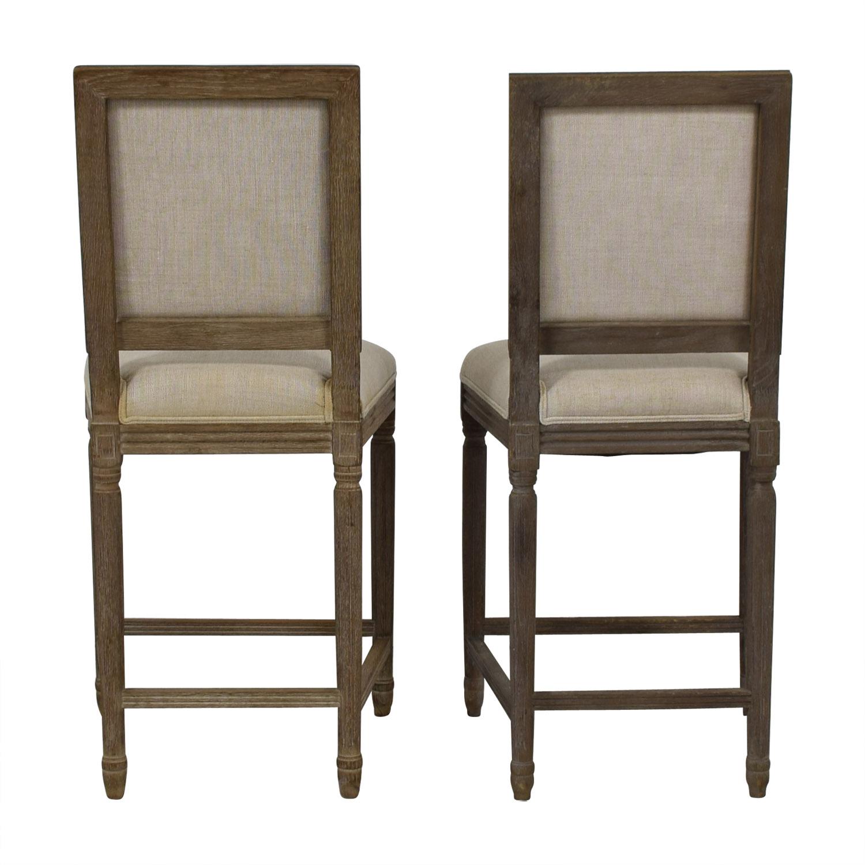 buy Restoration Hardware Vintage French Square Counter Stools Restoration Hardware Chairs