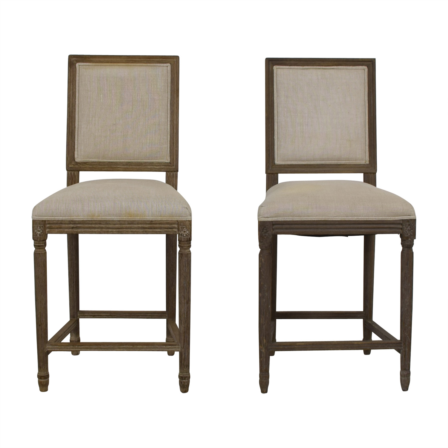 Restoration Hardware Restoration Hardware Vintage French Square Counter Stools on sale