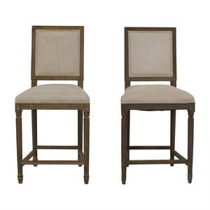 Restoration Hardware Restoration Hardware Vintage French Square Counter Stools used