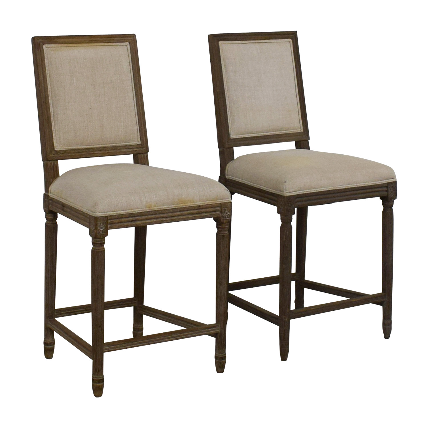 buy Restoration Hardware Restoration Hardware Vintage French Square Counter Stools online