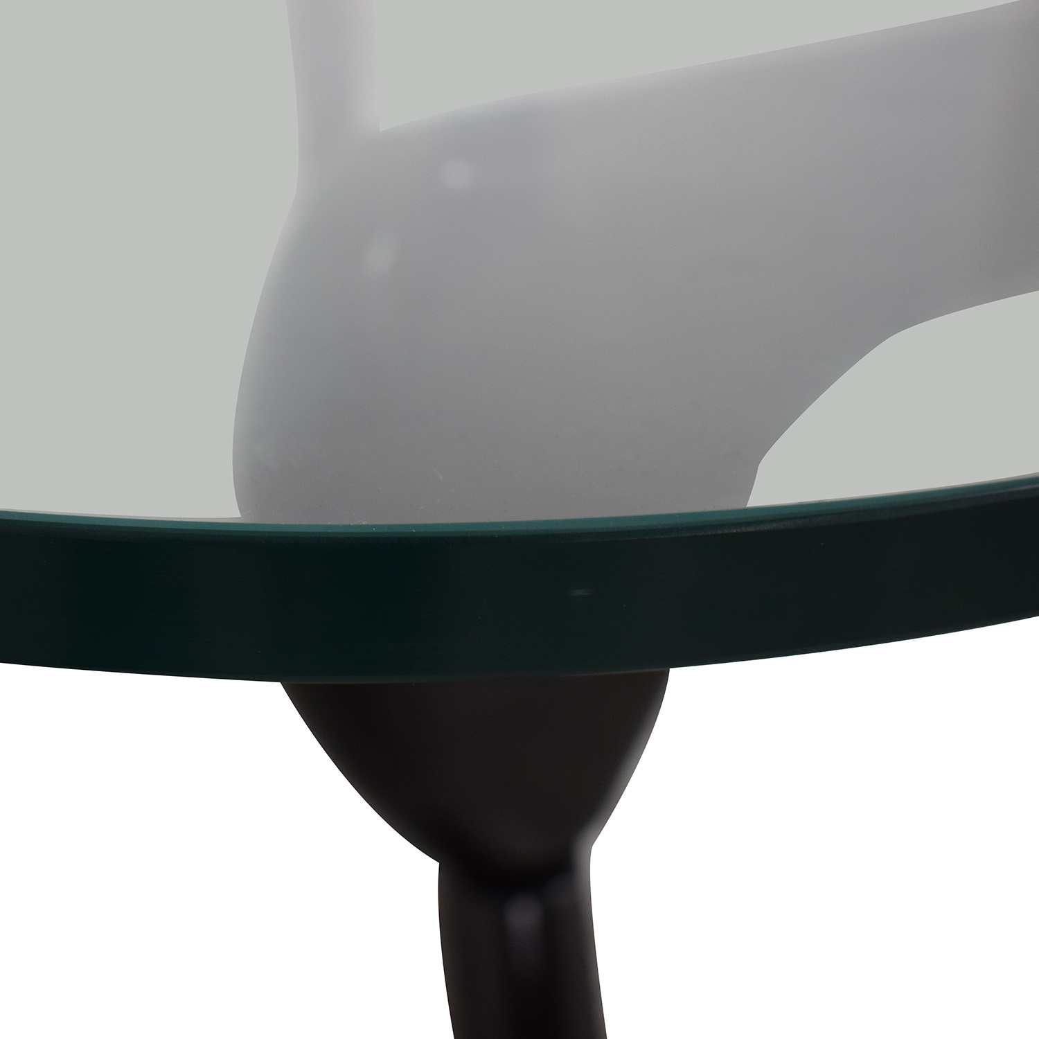 buy Maurice Villency Maurice Villency Noguchi Style Glass with Black Lacquer Coffee Table online
