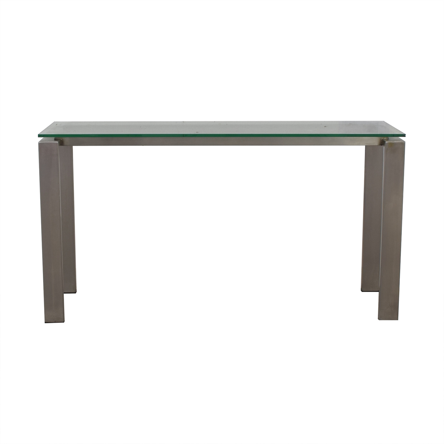 buy Room & Board Rand Glass and Stainless Steel Table Room & Board