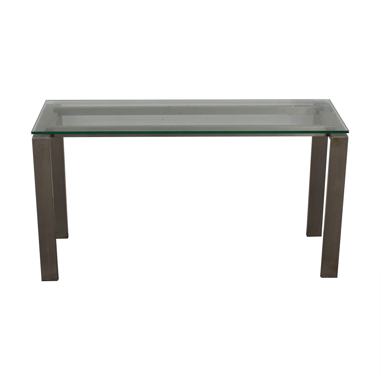 Room & Board Room & Board Rand Glass and Stainless Steel Table nj