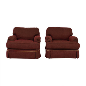 shop C.R. Lane Burgundy and Beige Lounge Chairs CR Laine