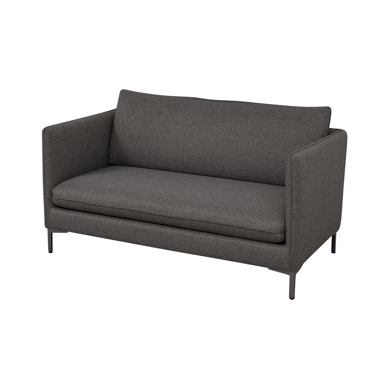 CB2 CB2 Flatiron Grey Apartment Sofa nyc