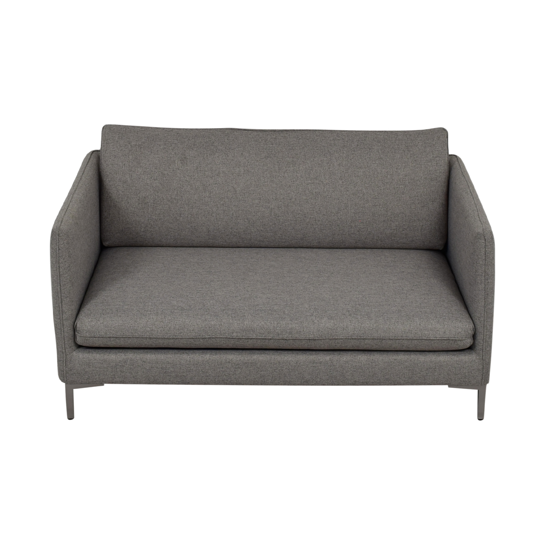 CB2 CB2 Flatiron Grey Apartment Sofa Sofas