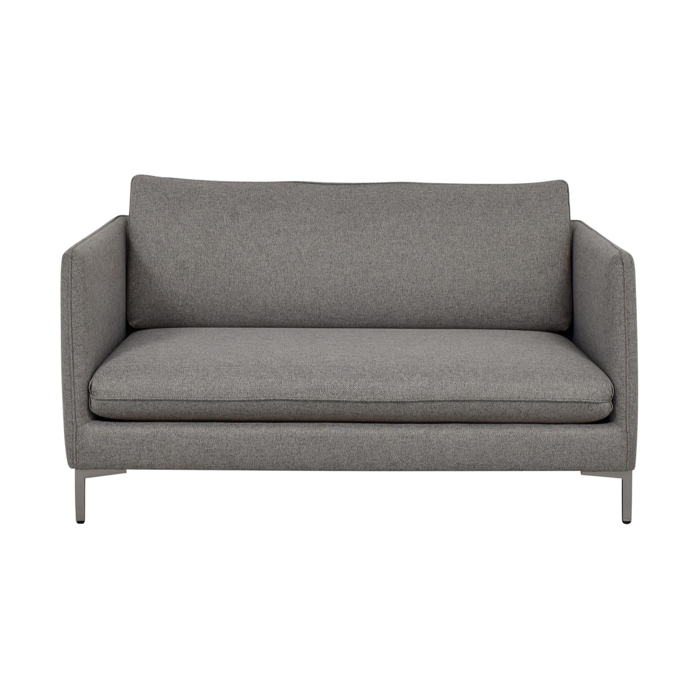 Cb2 Flatiron Grey Apartment Sofa Sofas