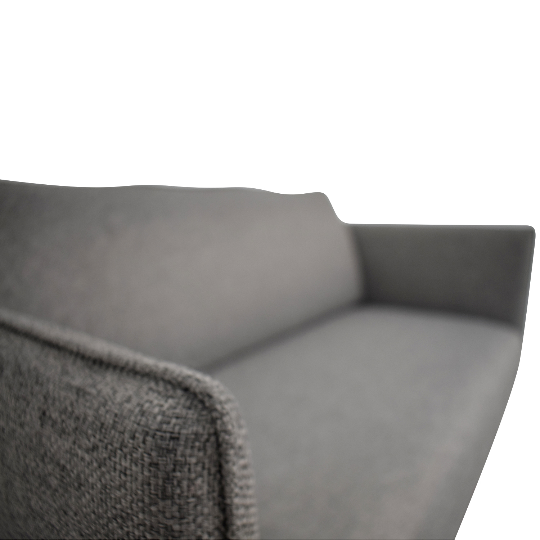 shop CB2 Flatiron Grey Apartment Sofa CB2