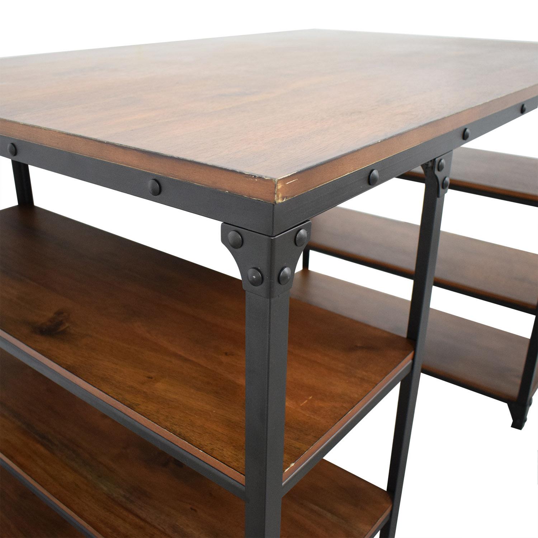 Raymour & Flanigan Raymour & Flanigan Lorimer Counter Height Writing Desk with Stool price