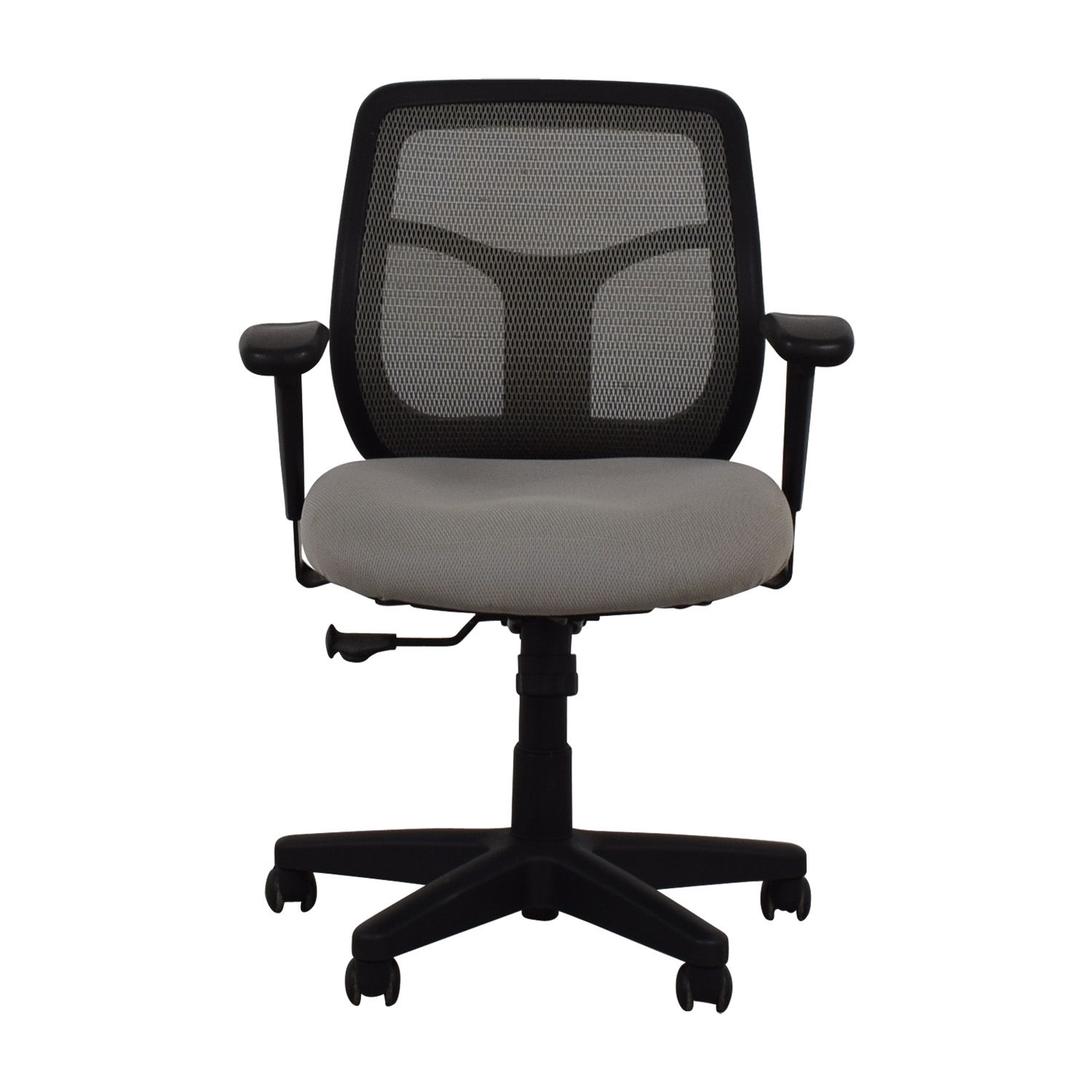 Grey and Black Computer Chair on Casters sale