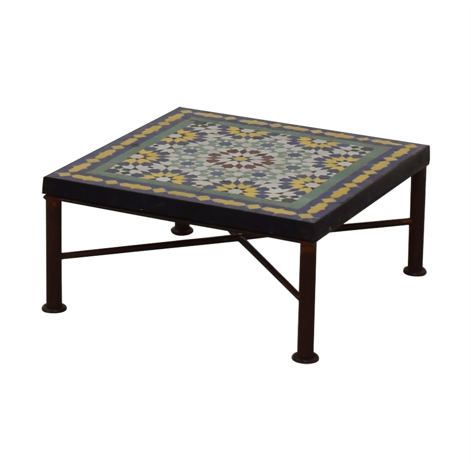 90 off moroccan style tile coffee table tables. Black Bedroom Furniture Sets. Home Design Ideas