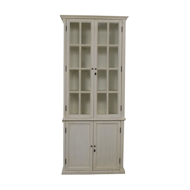 Restoration Hardware Hampton White Bookcase / Storage