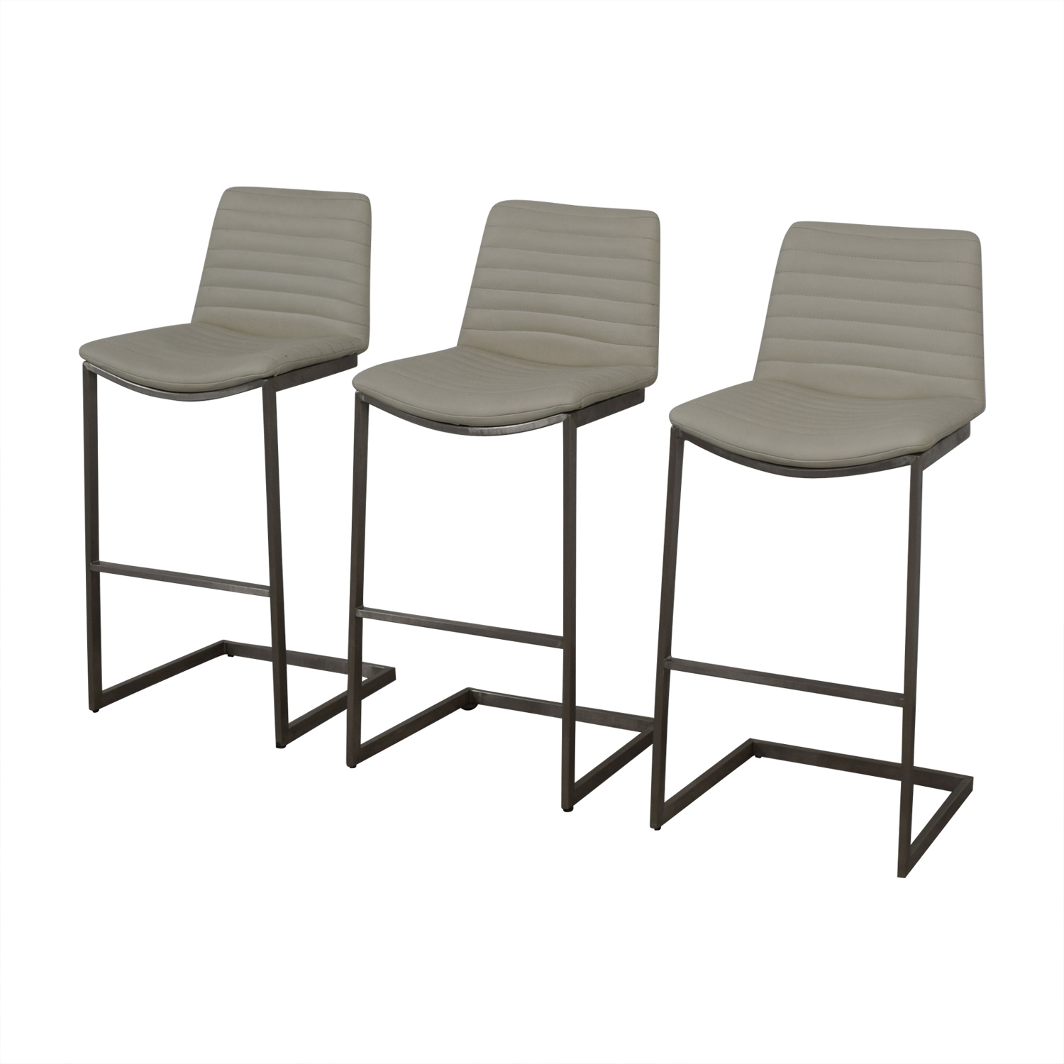 All modern all modern white leather stools for sale