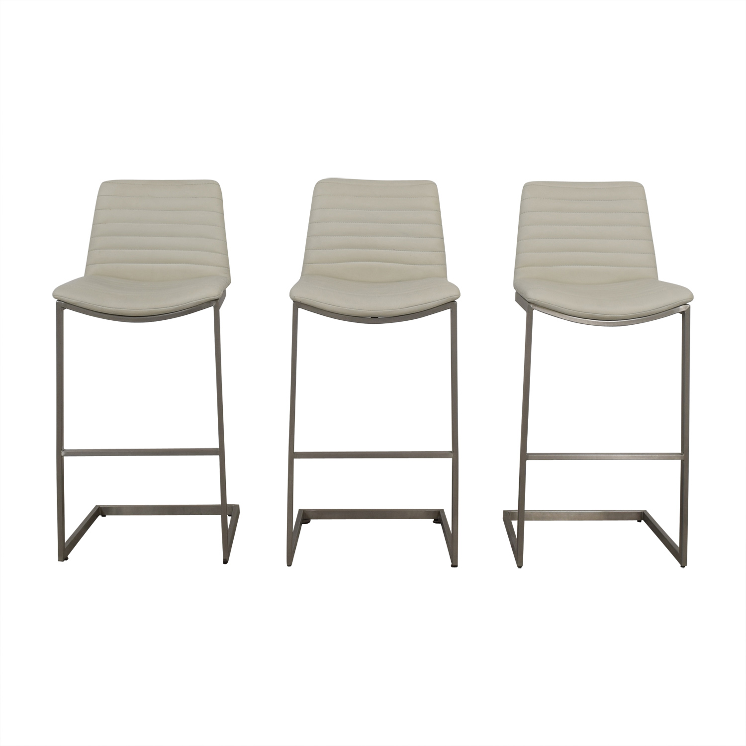 shop All Modern White Leather Stools All Modern