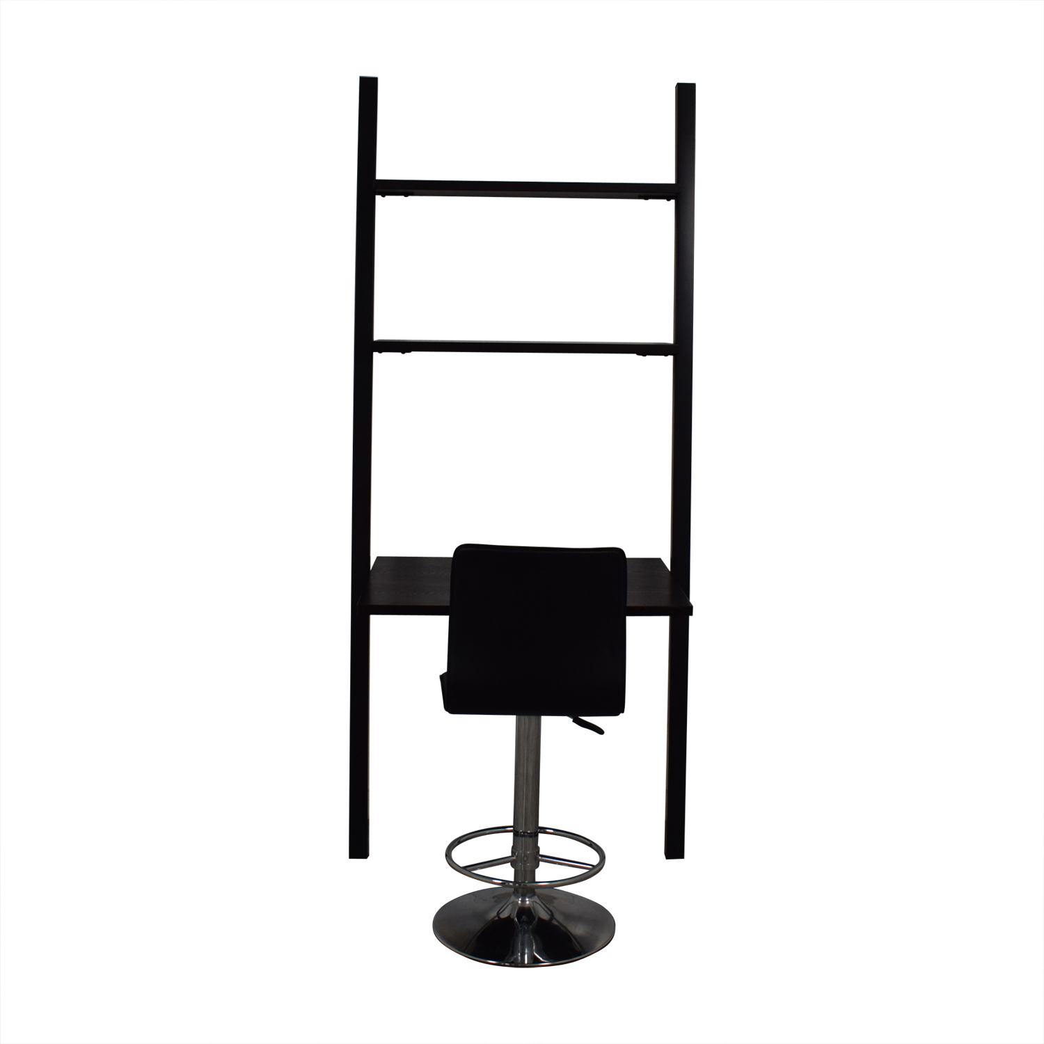 The Door Store The Door Store Ladder Shelf Desk with Modern Black Chair Home Office Desks