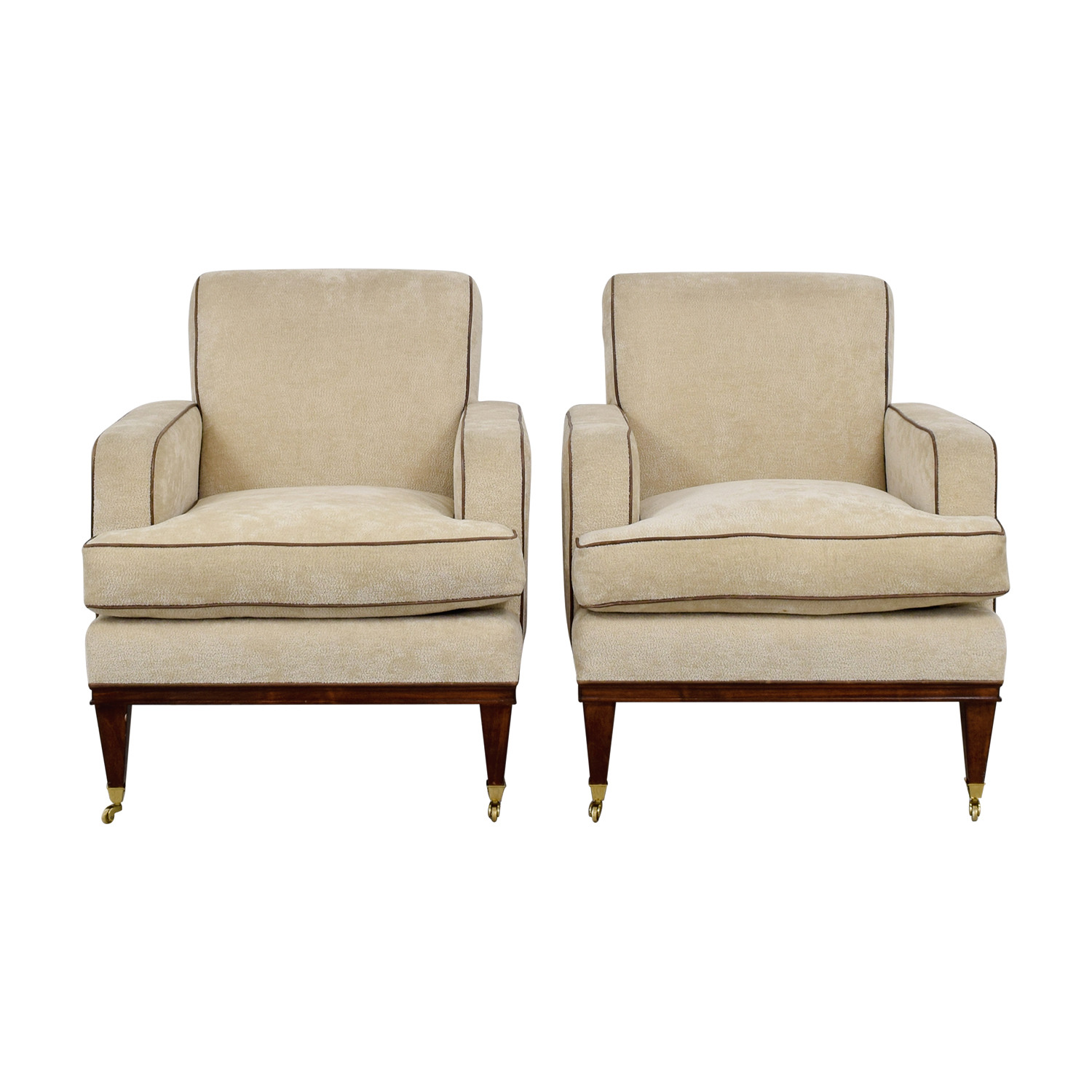 Furniture Masters Furniture Masters Beige Club Chairs on Castors for sale