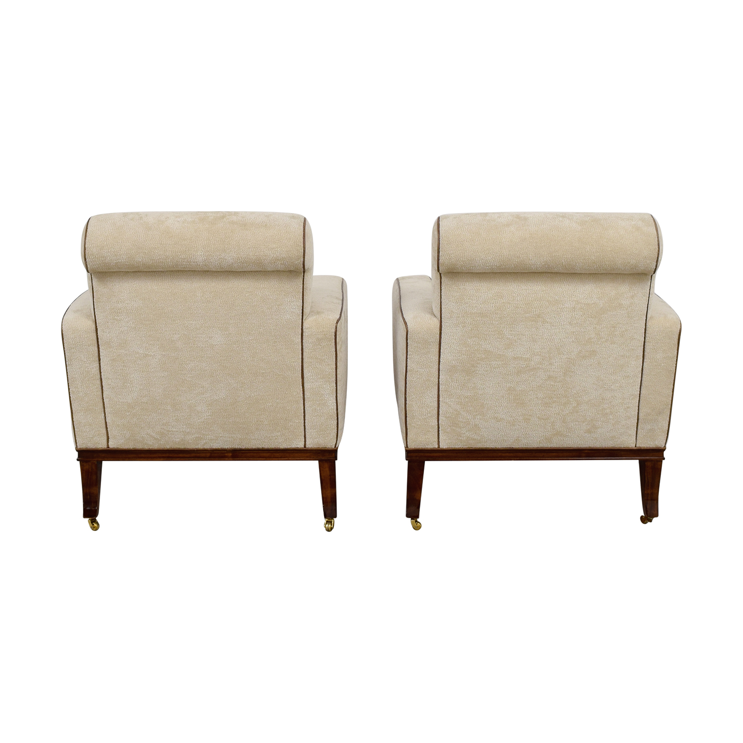 Furniture Masters Beige Club Chairs on Castors Furniture Masters