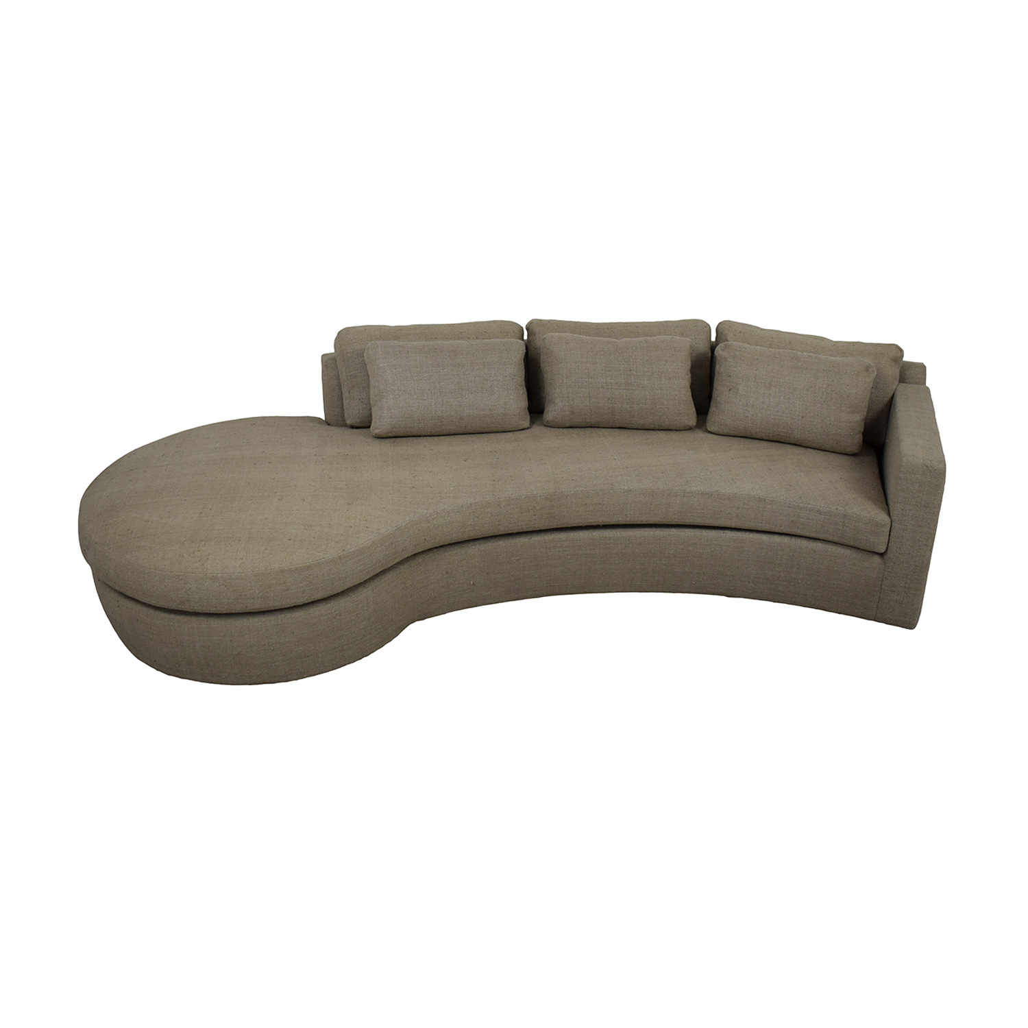 Furniture Masters Furniture Masters Serpentine-Style Grey Sofa on sale