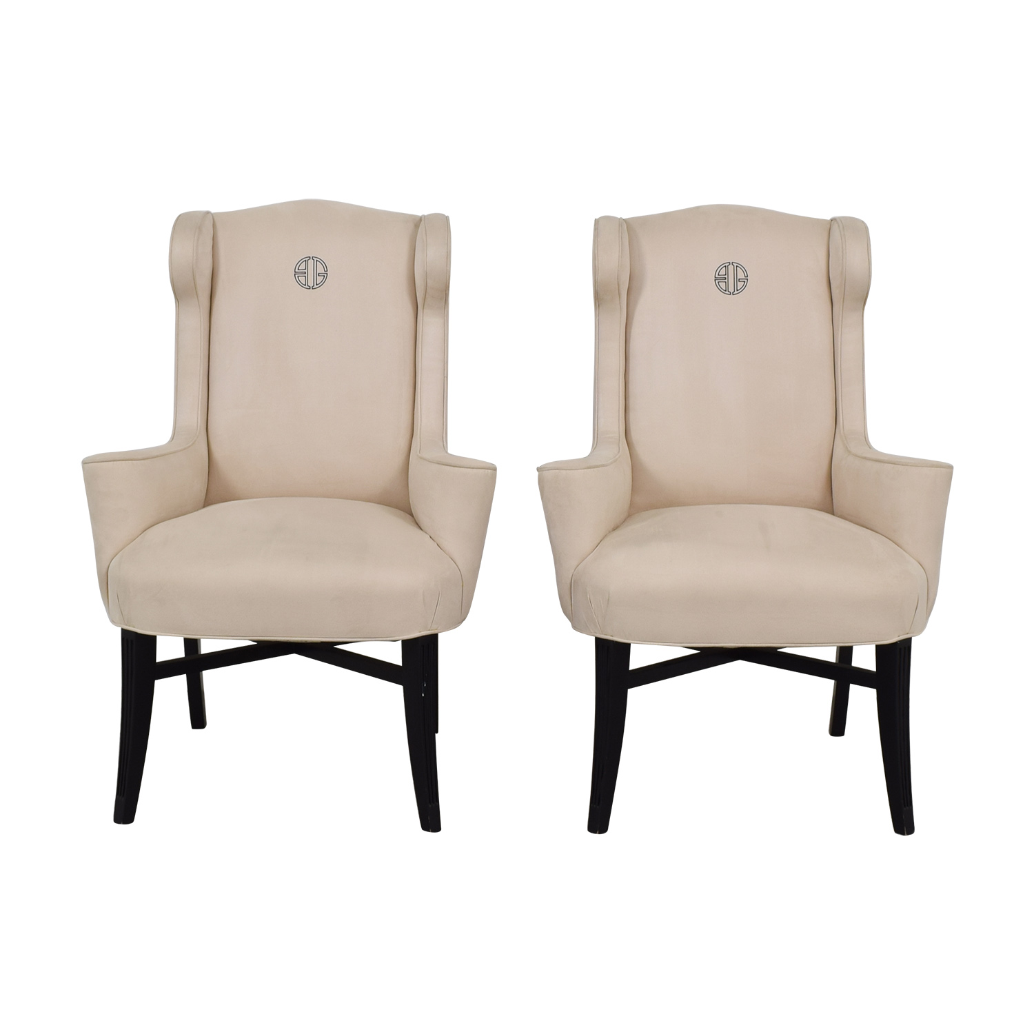 Furniture Masters Furniture Masters Cream Club Chairs second hand
