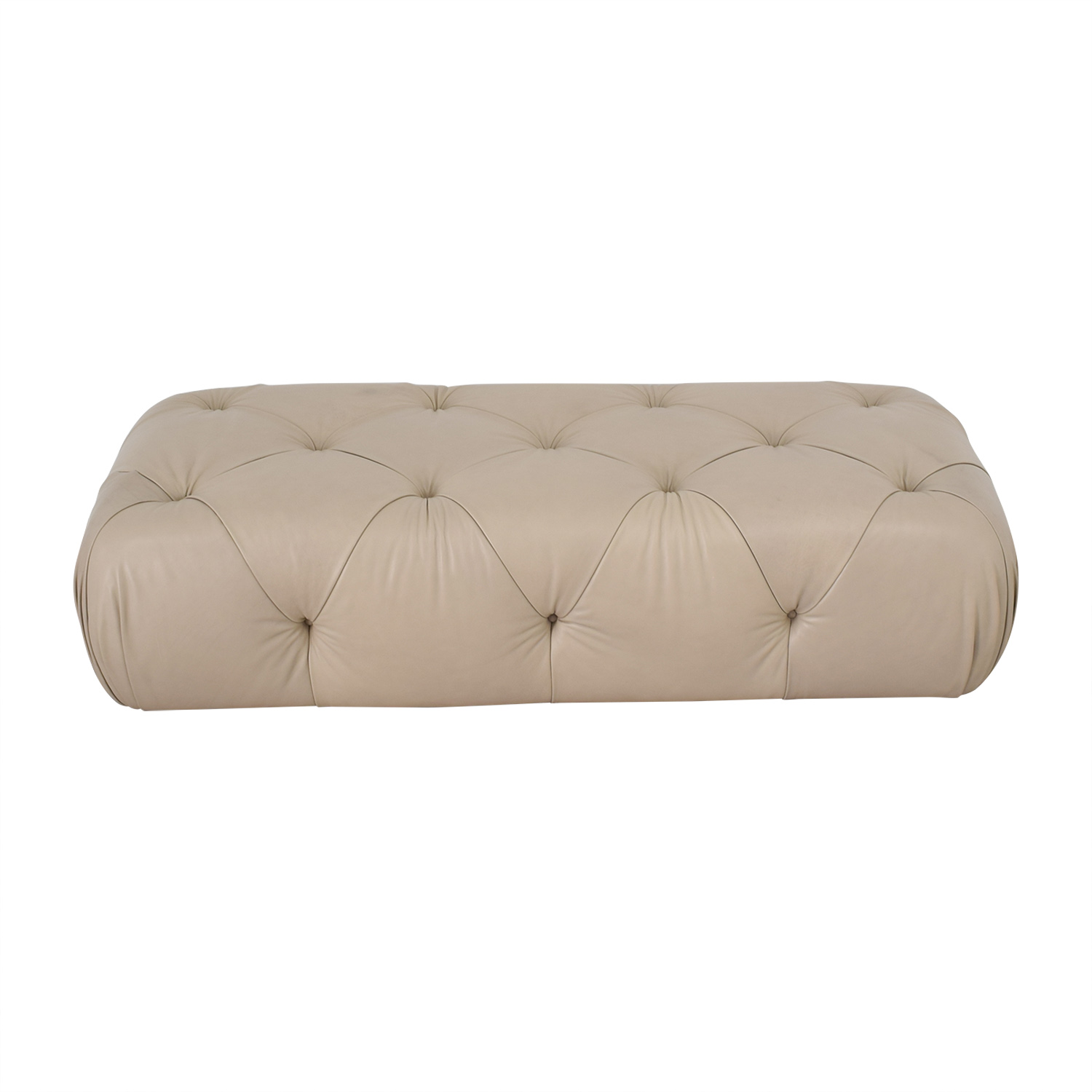 Furniture Masters Furniture Masters Tufted Beige Ottoman for sale