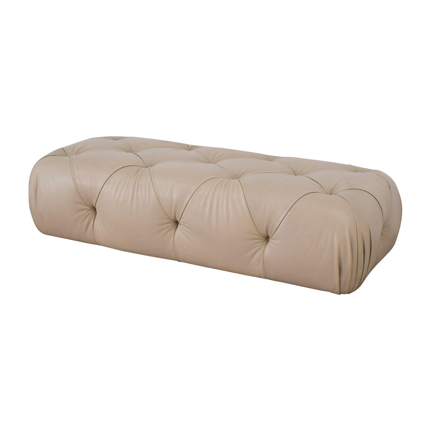 buy Furniture Masters Furniture Masters Tufted Beige Ottoman online