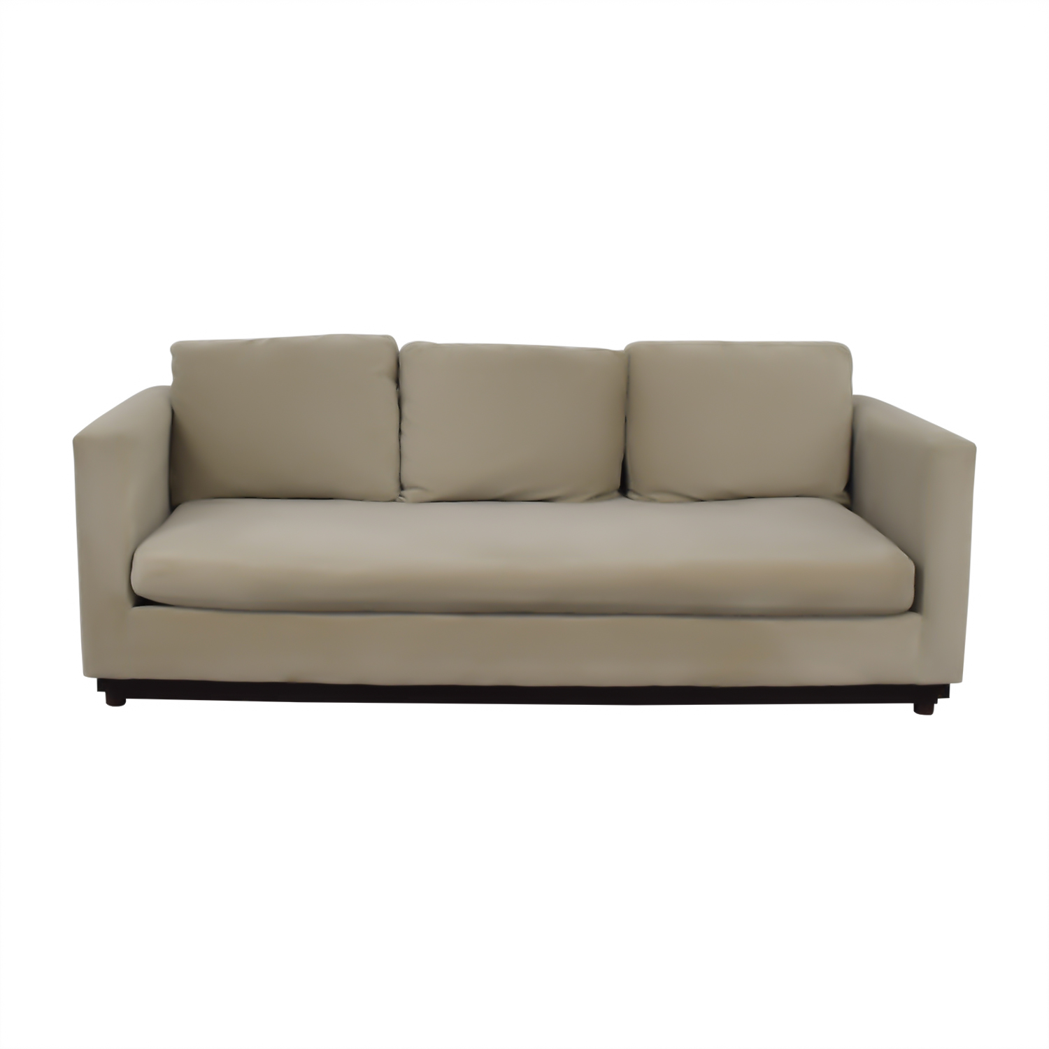 West Elm West Elm Tan Single Cushion Couch second hand