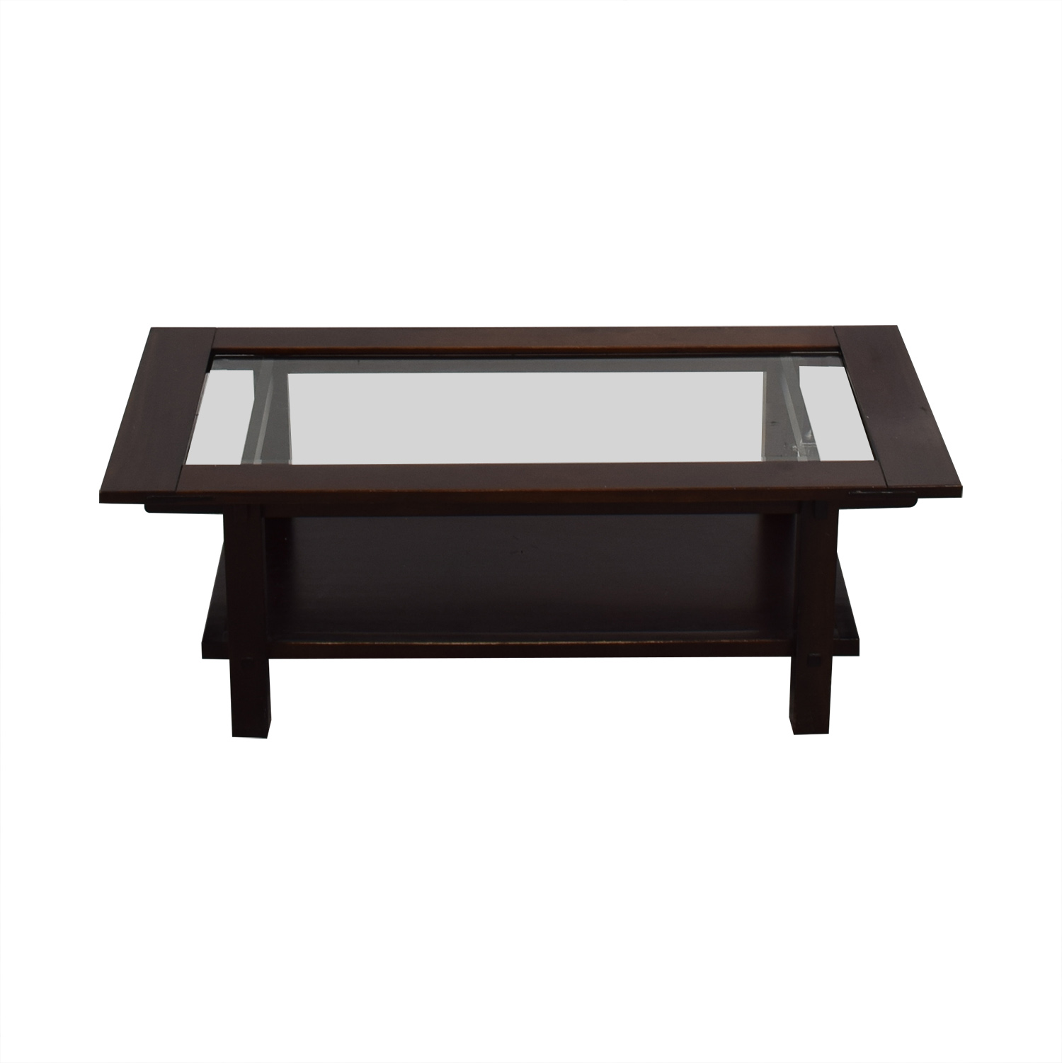 buy Crate & Barrel Brown Wooden Coffee Table Crate & Barrel Coffee Tables
