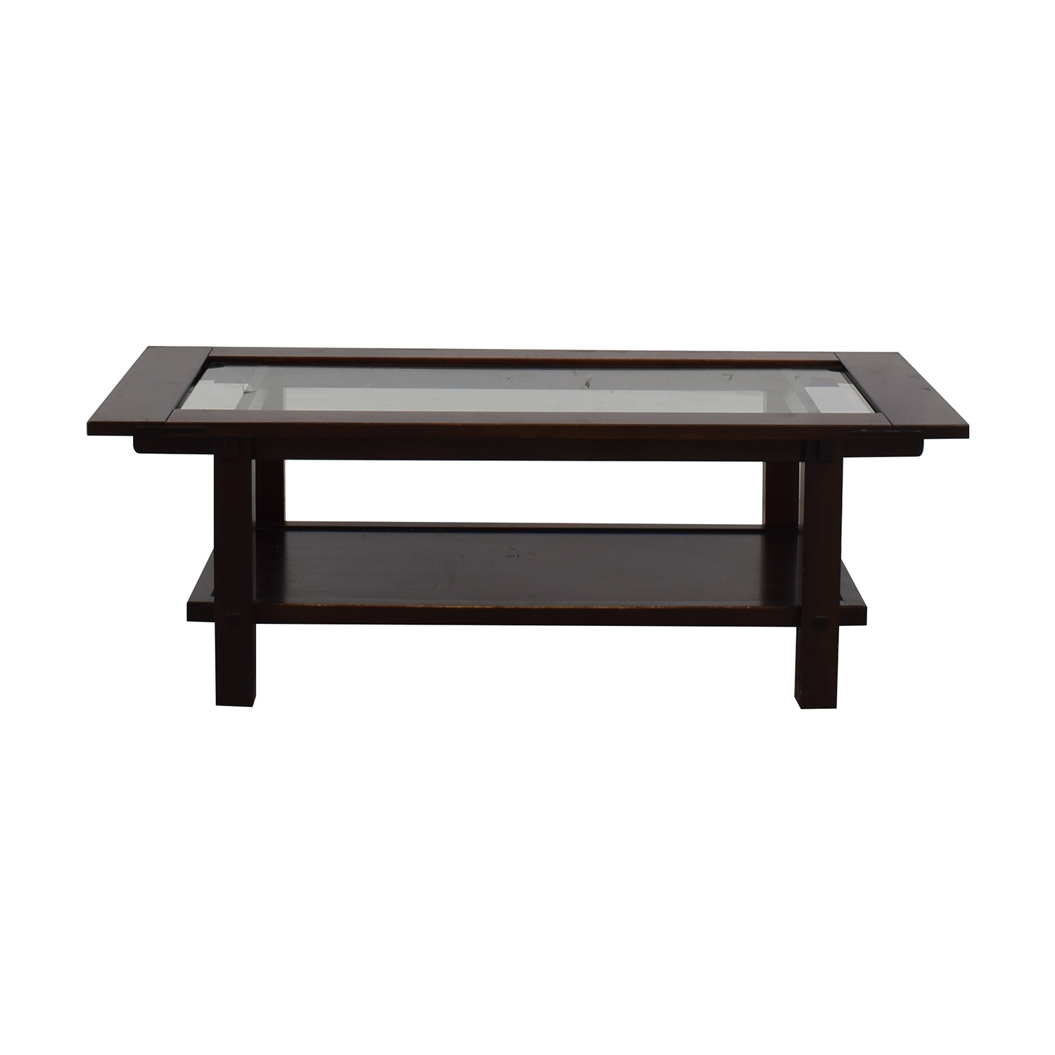 Crate & Barrel Crate & Barrel Brown Wooden Coffee Table for sale