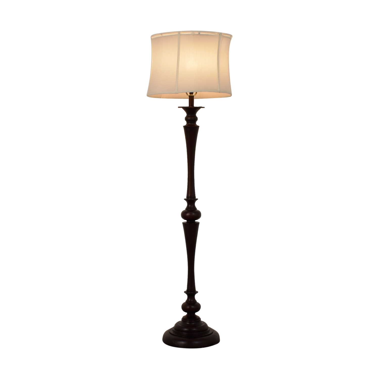 Wood Base Floor Lamp discount