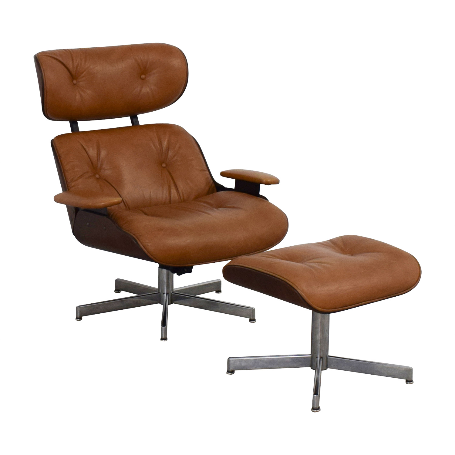 Groovy 55 Off Plycraft Plycraft Eames Style Lounge Chair And Ottoman Chairs Ibusinesslaw Wood Chair Design Ideas Ibusinesslaworg