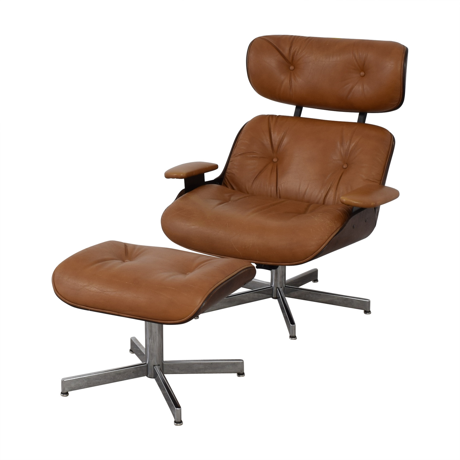 shop Plycraft Eames Style Lounge Chair and Ottoman Plycraft Chairs