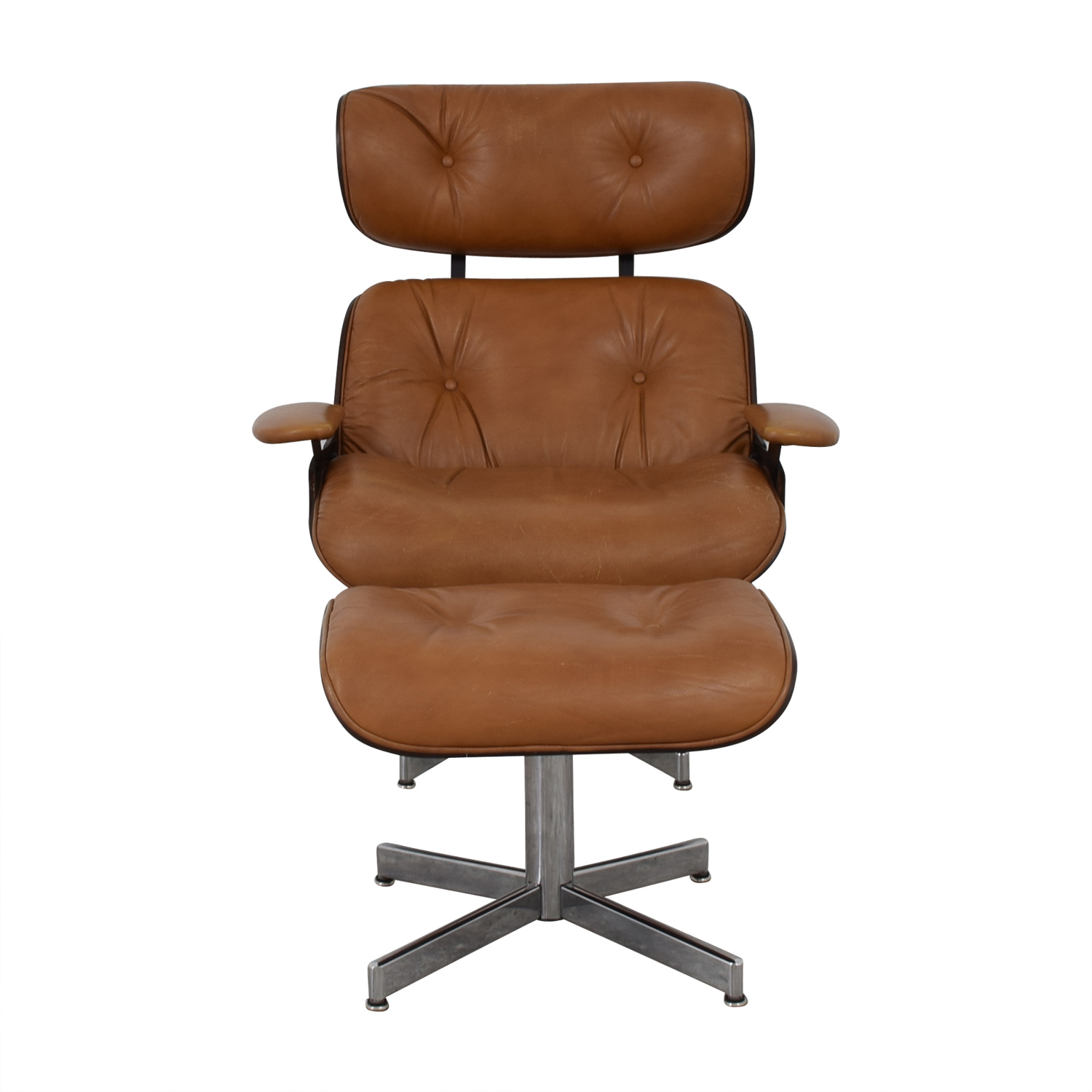 Excellent 55 Off Plycraft Plycraft Eames Style Lounge Chair And Ottoman Chairs Pdpeps Interior Chair Design Pdpepsorg