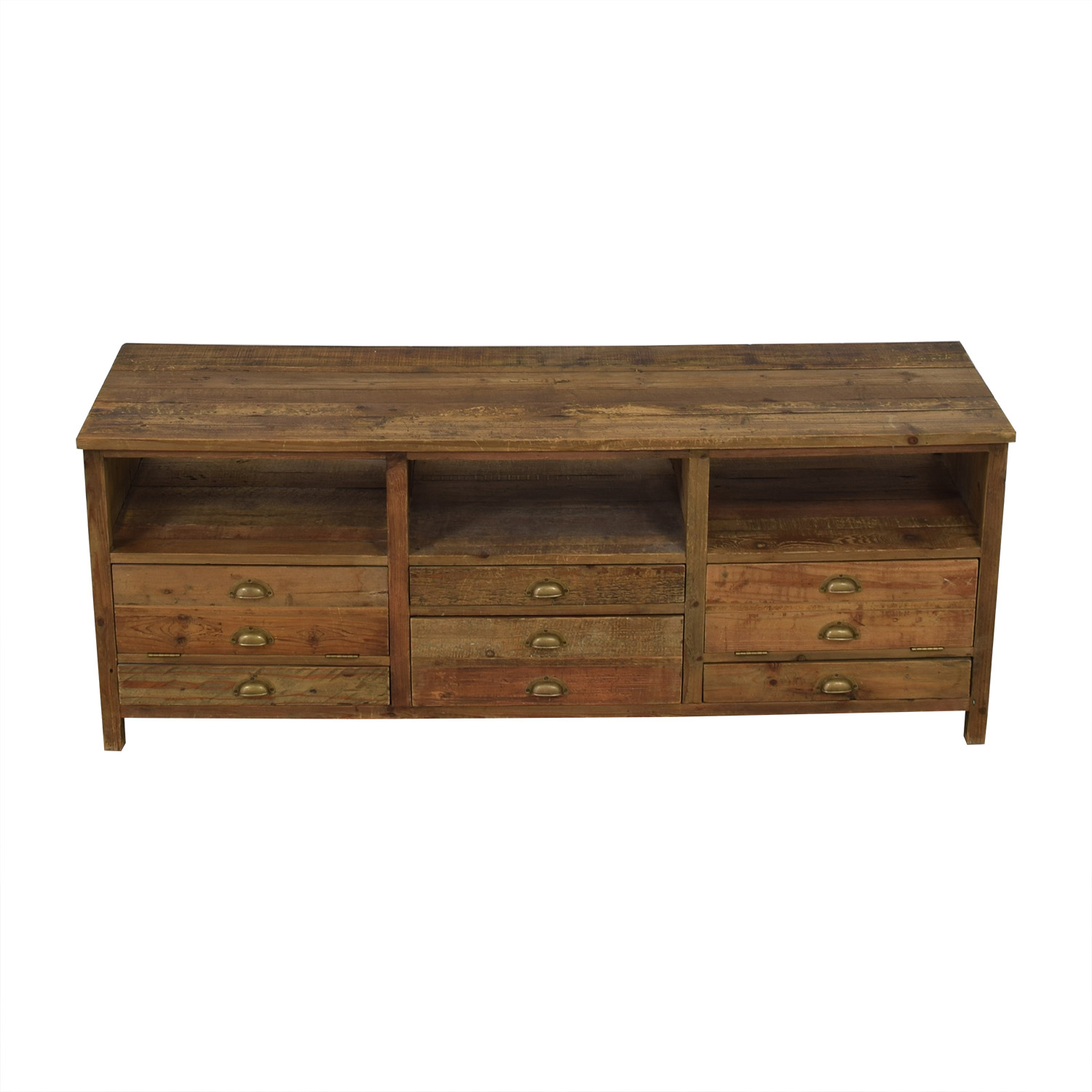 Mecox Gardens Mecox Gardens Grand Entertainment Rustic Wood Console coupon
