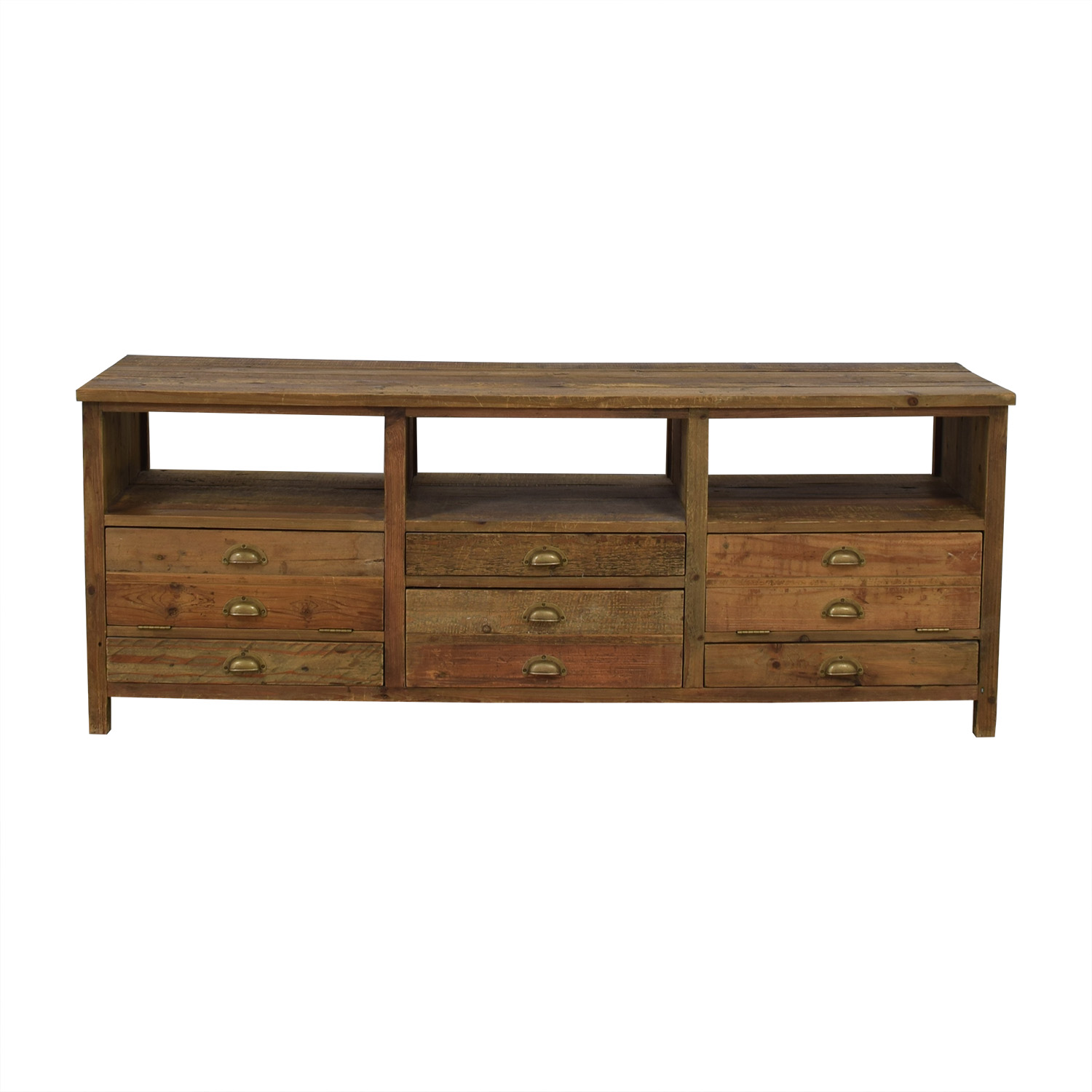 Mecox Gardens Mecox Gardens Grand Entertainment Rustic Wood Console price
