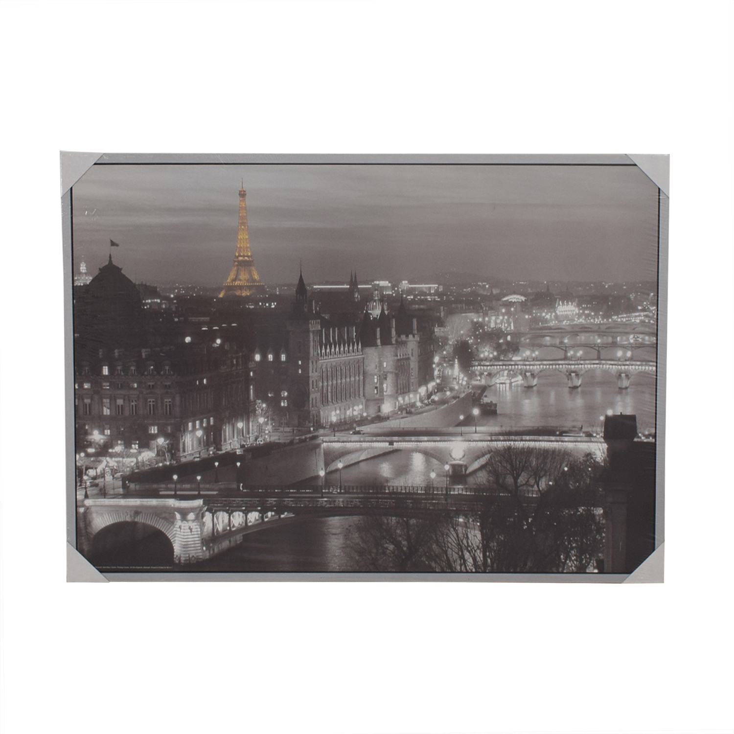 Ikea black and white paris wall art decor