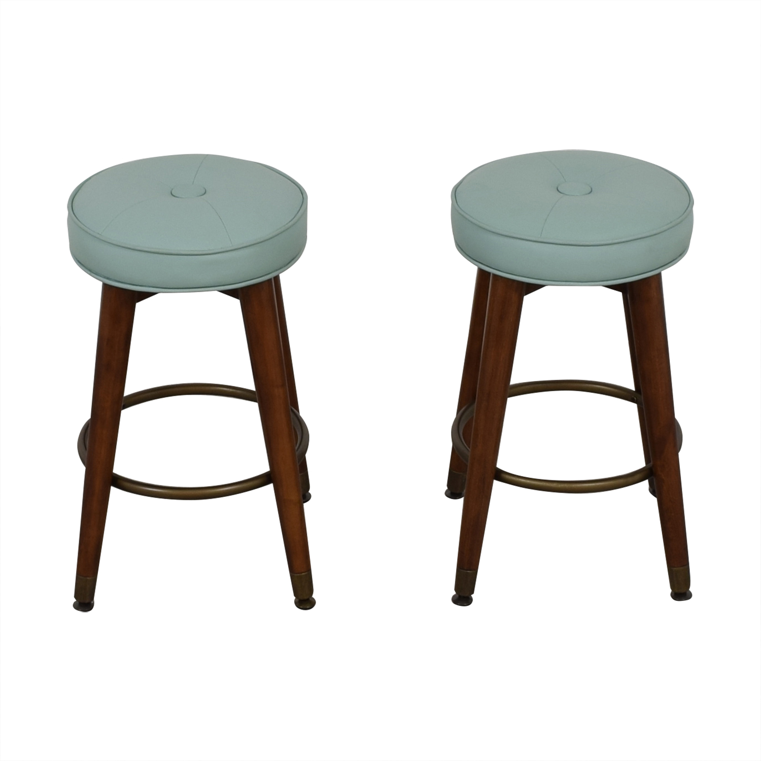 shop Teal and Wood Stools  Chairs